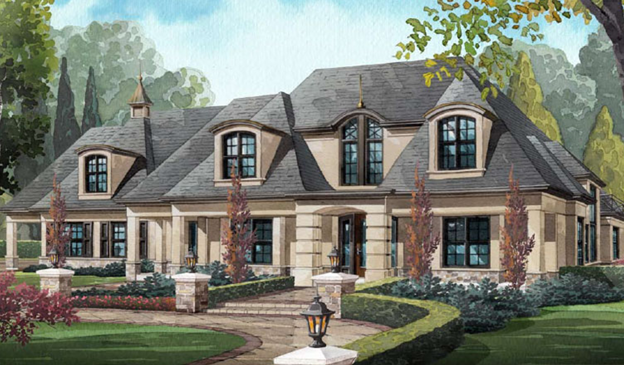 Edgewater Esates home drawing