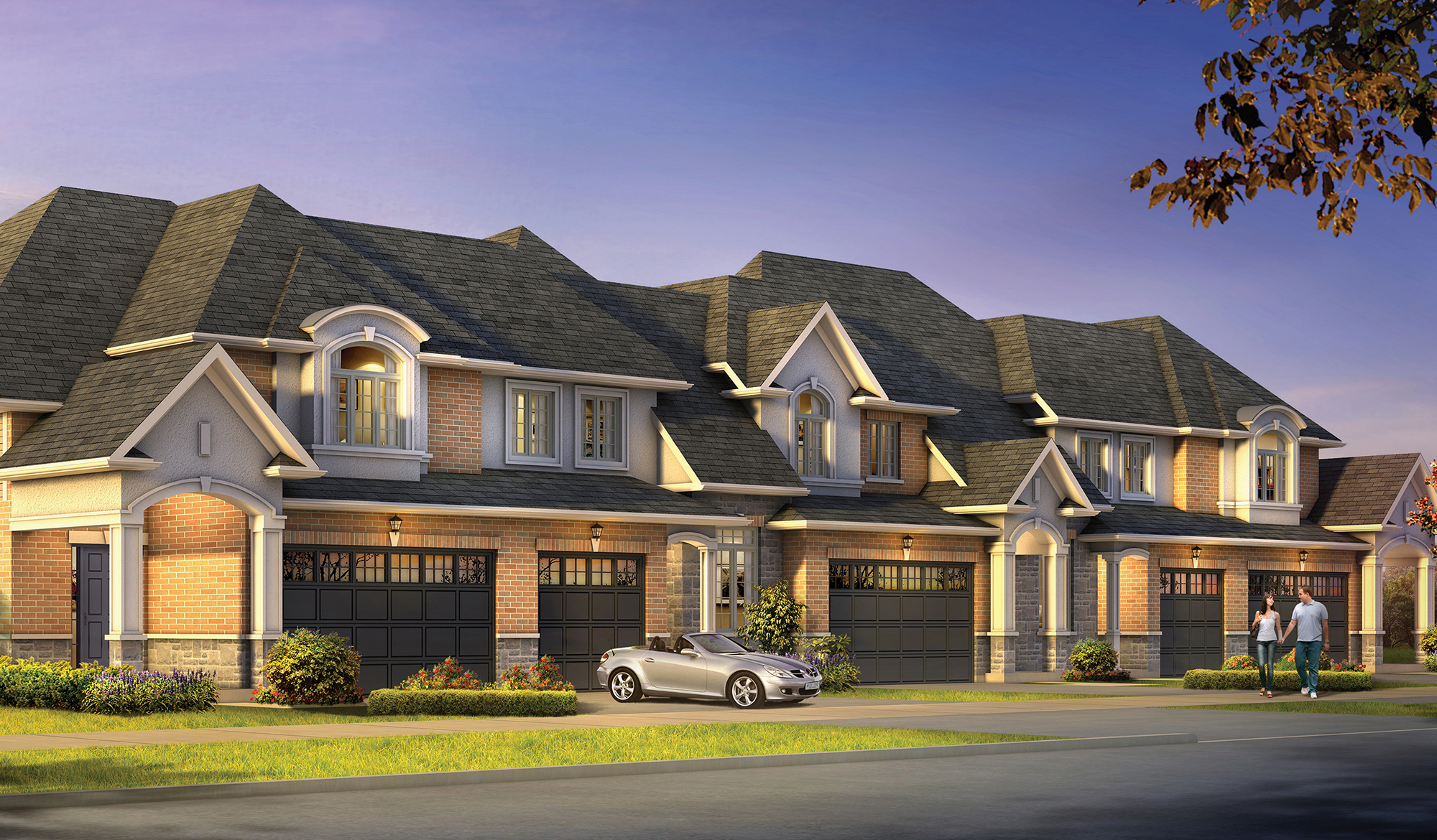 Row of Paradise Townes homes