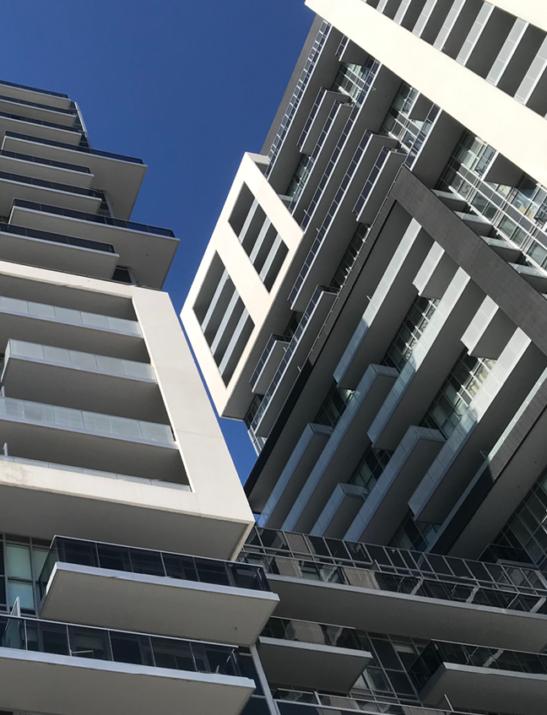 Exterior of Paradigm condominium building
