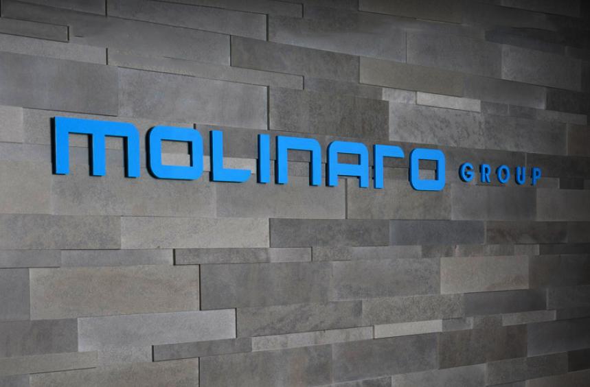 Molinaro Group text on wall