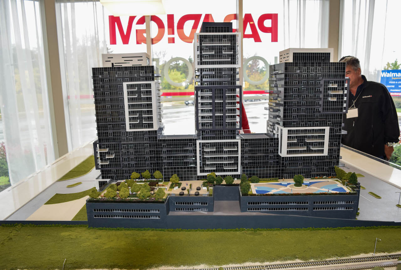 Model building for phase one of Paradigm consisting of three towers