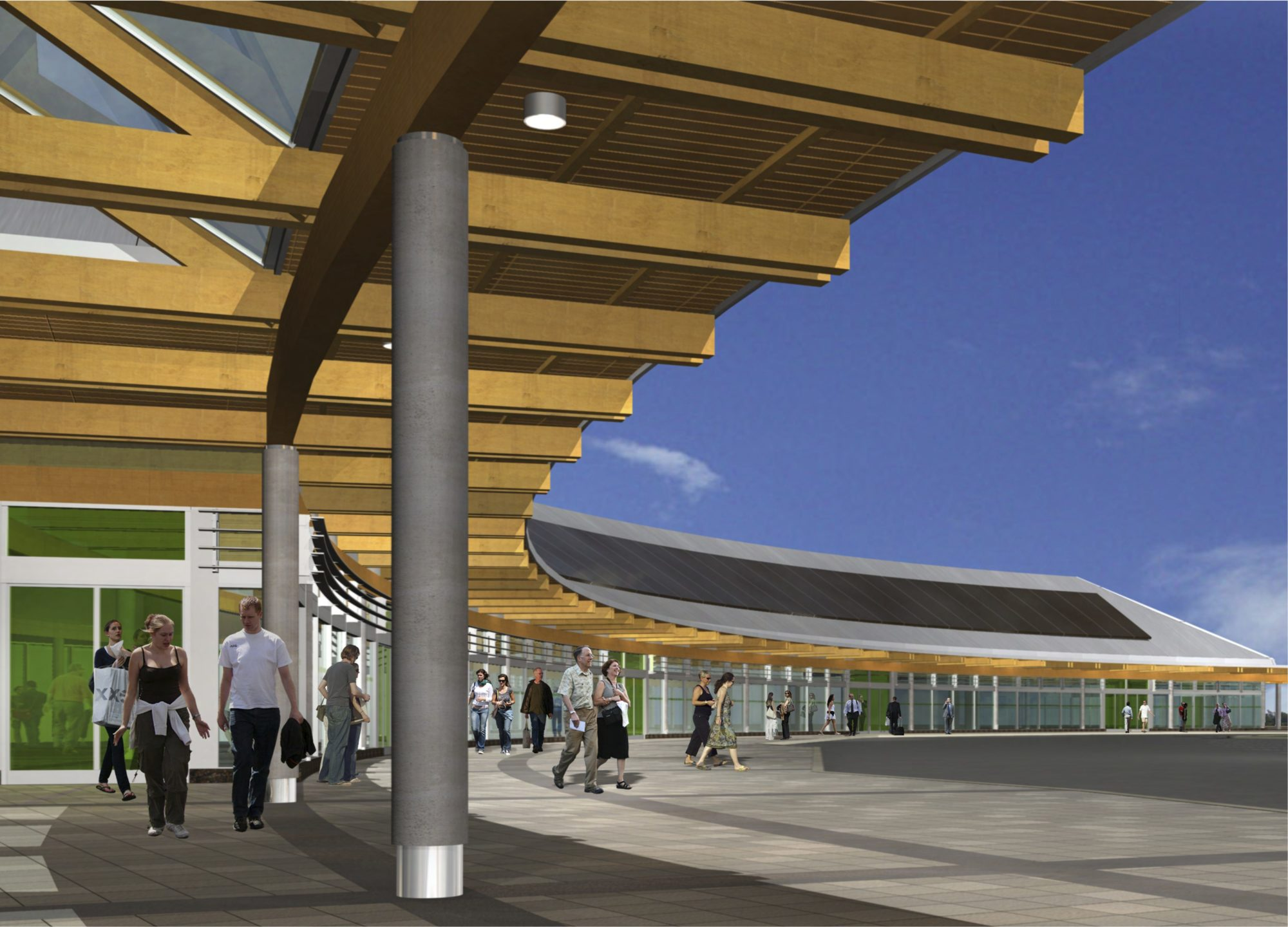 Rendering of GO station in Burlington